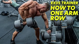 How to Properly Execute a One-Arm Row