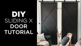 DIY Sliding X Door Tutorial