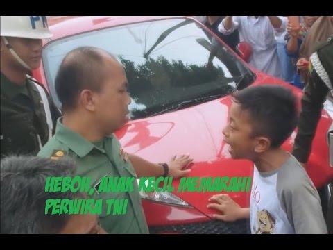 Anak Kecil menantang Perwira TNI Demi mempertahankan Haknya Viral di Internet