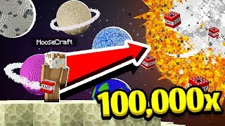 BLOWING UP THE SUN WITH 10000 TNT IN MINECRAFT! (MAD TNT MOD)