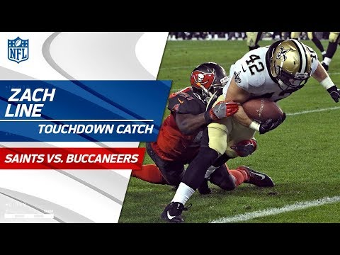 Drew Brees Finishes Off Drive w/ TD Pass to Zach Line to Extend Lead | Saints vs. Bucs | NFL Wk 17