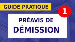 DÉMISSION: LE DÉLAI DE PRÉAVIS __#11