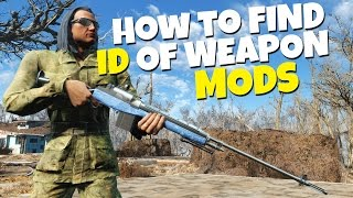 Fallout 4 - How to find ID and Spawn Modded Weapons That You Download
