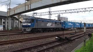超激レア!!スーパーレールカーゴ9051列車がトヨタロングパスエクスプレス1555列車に抜かされる!