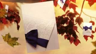Пригласительные на свадьбу Gilliann Blue bow