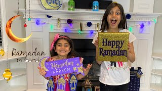 HAPPY RAMADAN Decoration with Deema and Sally For Kids
