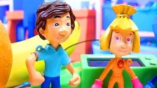 Фиксики . фруктовые часы. Мультфильм с игрушками.
