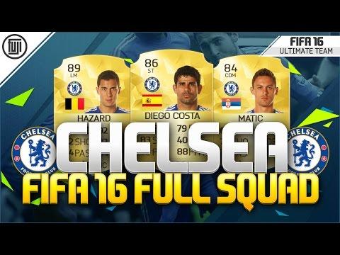 FIFA 16 - FULL CHELSEA SQUAD! - FT. 89 Hazard, 87 Fabregas & 86 Diego Costa - FIFA 16 Ultimate Team