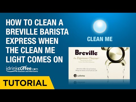 How to clean a Breville Barista Express when the Clean Me light comes on
