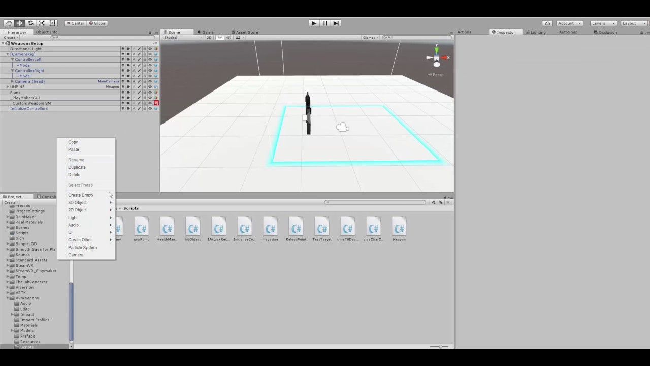 VR Weapon and Playmaker for Unity - Gun to Steam VR Vive Controller  [Depreciated]