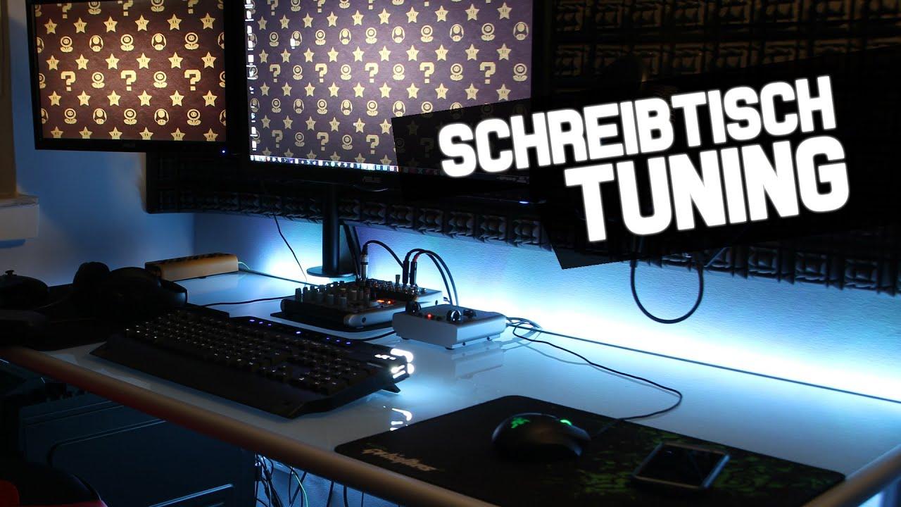 Schreibtisch Tuning  Unterbodenbeleuchtung FTW  YouTube