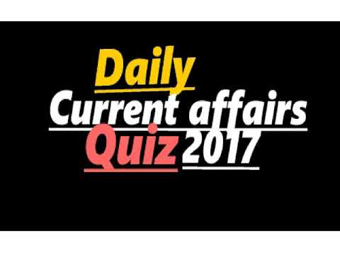 Daily current affairs quiz | The Hindu 2017