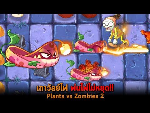 เถาวัลย์ไฟ พ่นไฟไม่หยุด Plants vs Zombies 2