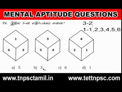 TNPSC Study Video Materials - Aptitude | Mental Ability Test Question Answer
