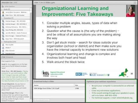 Organizational Learning and Data Use in Schools and Districts: Strategies for Improvement
