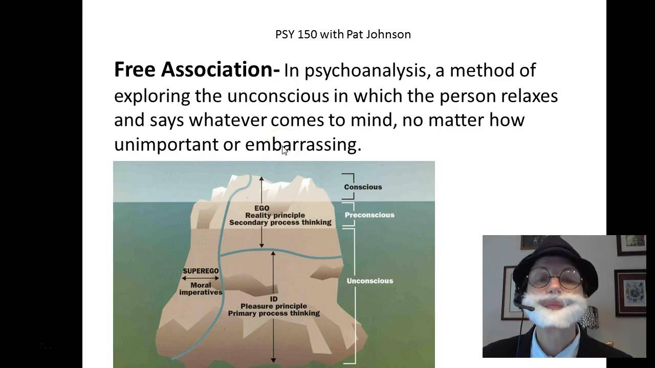 psy 150 personality freud s free association [ 1280 x 720 Pixel ]