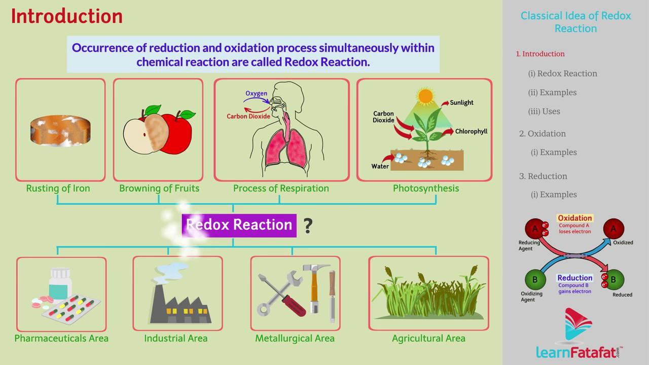 Redox Reactions Chemistry Class 11 Cbse