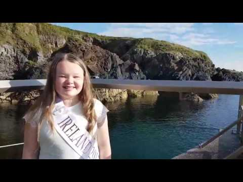 Junior Irish Face Of The Globe visits Tramore, Co. Waterford, Ireland