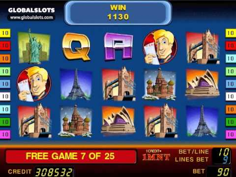 First Class Traveller videoslot gameplay video GlobalSlots C