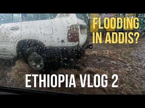 Heavy rainfall in Addis Ababa! | Drive to Mount Entoto | Ethiopia Vlog 2