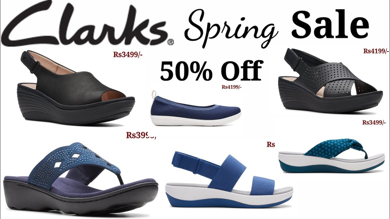 al límite Célula somatica medio litro  CLARKS SHOES SPRING SALE 50% OFF LATEST LADIES FOOTWEAR COLLECTION SANDAL  SLIPPERS DESIGN - YouTube