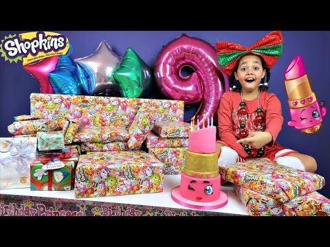 Tiana's 9th Birthday Party! Family Fun Games - Surprise Toys Opening Presents - Shopkins Cake