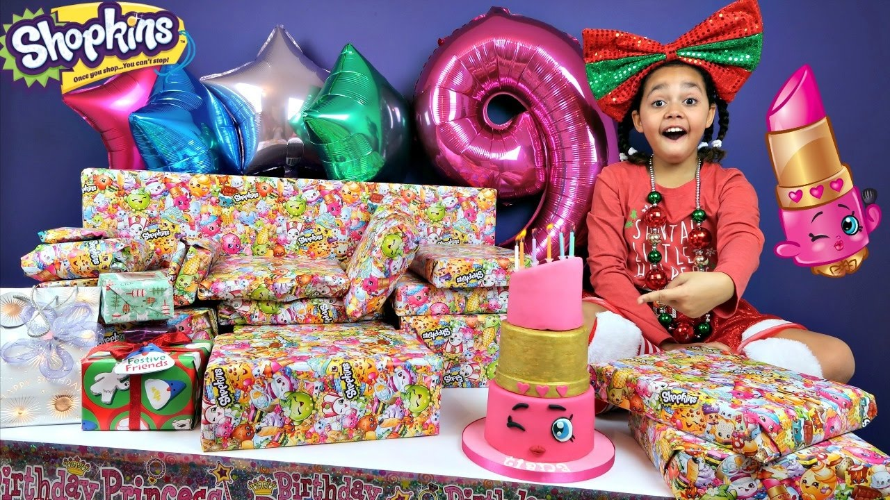 tiana s 9th birthday party family fun games surprise toys opening presents shopkins cake vloggest 9th birthday party family fun games