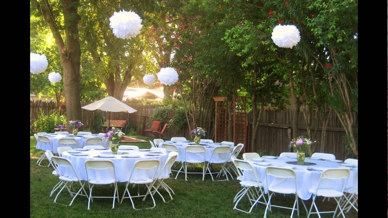 Small Wedding Dinner Party Ideas Part - 30: 15 Best Backyard Weddings - YouTube