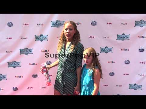 Tawny Cypress and her niece Emma at La Dee Da Official La...