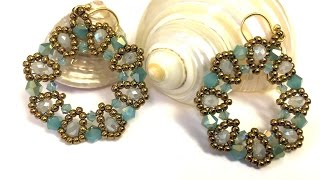"Video Tutorial - DIY - Beaded Earrings ""Bisous"""