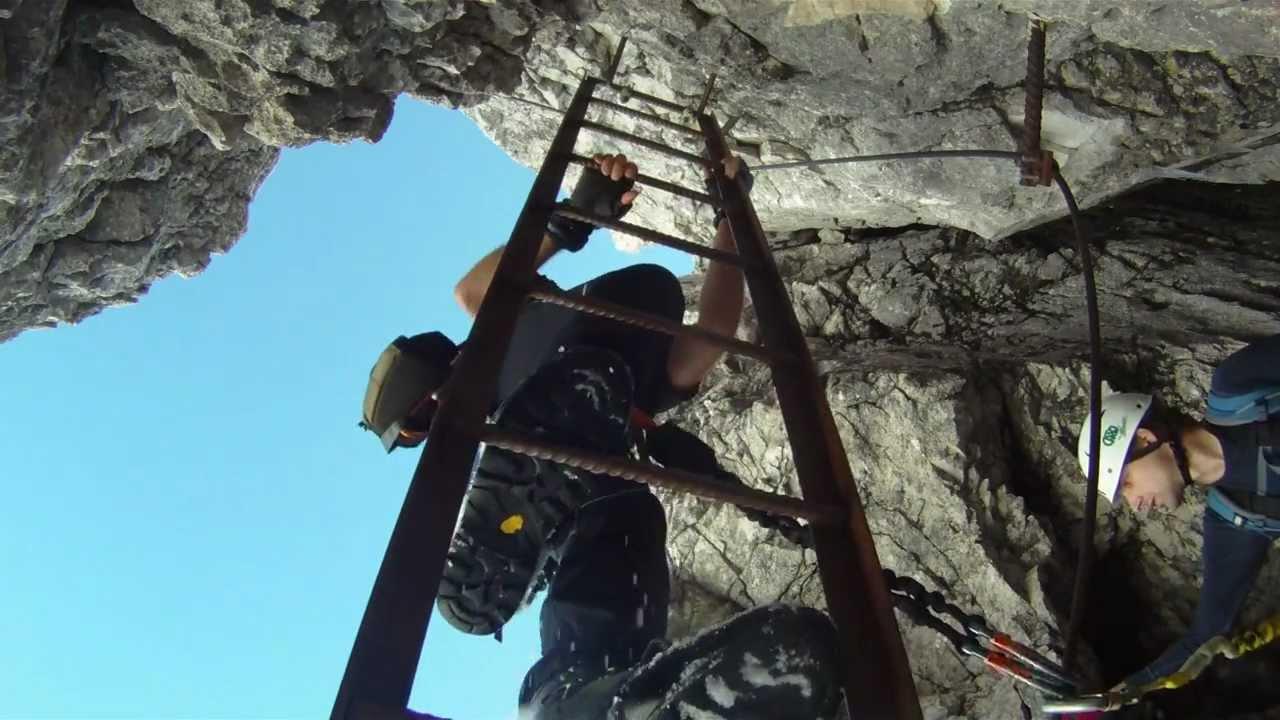 Klettersteig Johann Topo : Großer priel bert rinesch klettersteig mpg youtube