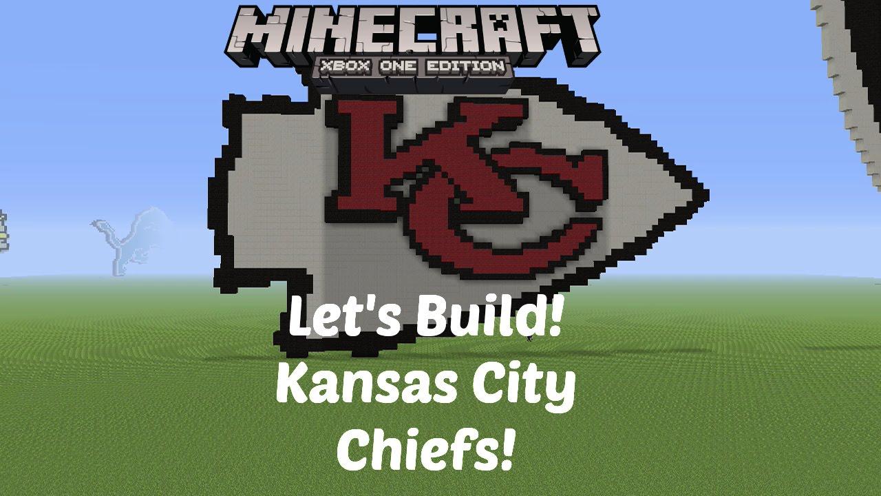 Minecraft Lets Build Nfl Logos Kansas City Chiefs Xbox One Hd