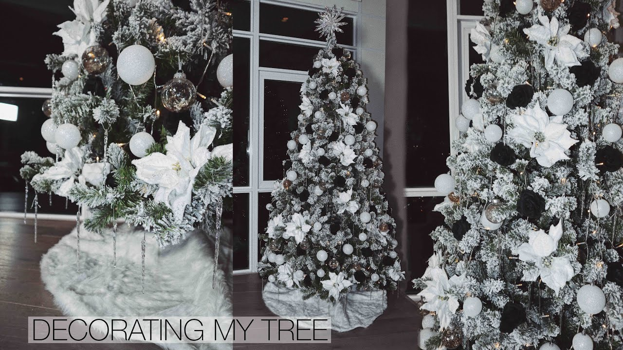 Decorating My Christmas Tree 2019 Black White Gold Jasmeannn Youtube