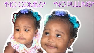 How To Style Babies Hair Without Damaging/Pulling ❤️ Easy Baby Hair Style