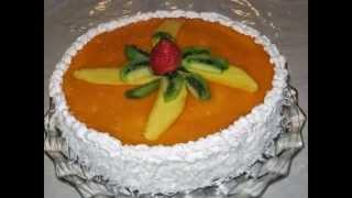 /كيكة المانكو/ Mango Mousse Cake/ Recipe #26