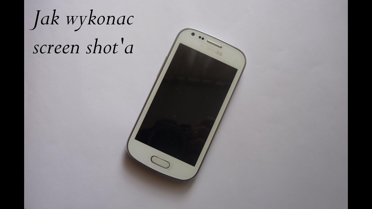 how to take a screen shot with a samsung