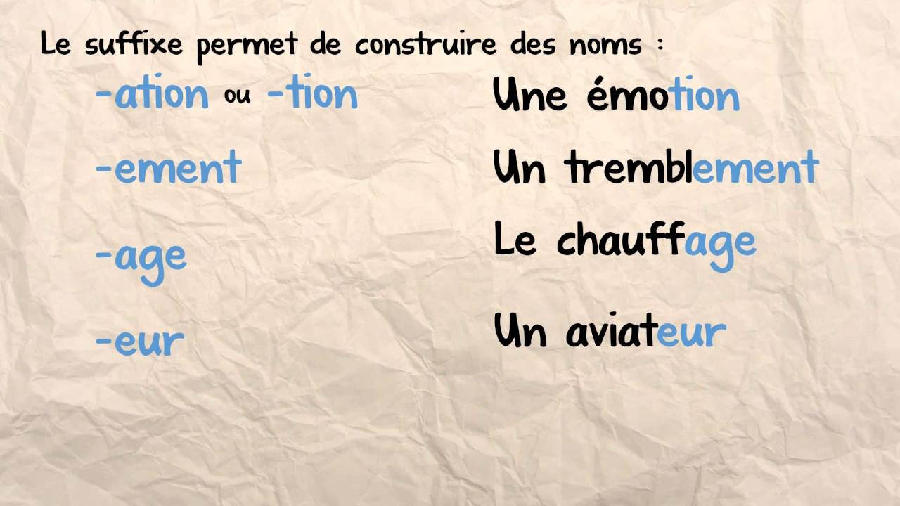 Download Les suffixes