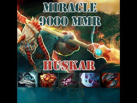 Dota 2 Huskar Mid By Miracle 9000 MMR Full Game Guide