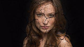 Эффект трещин в фотошопе.