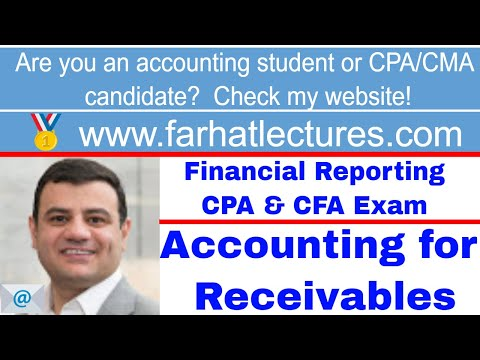 Accounting for Receivables cpa exam ch 8 p 1