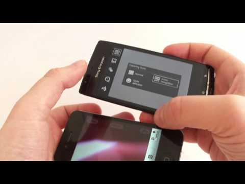 Sony Ericsson XPERIA arc vs iPhone 4  Android 2.3 Gingerbread vs iOS 4.3