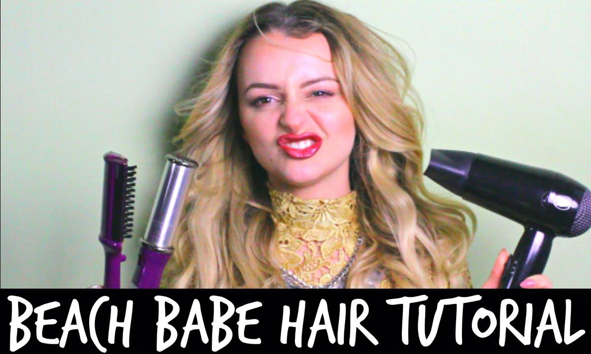 EFFORTLESS BEACH BABE HAIR TUTORIAL with INSTYLER ...