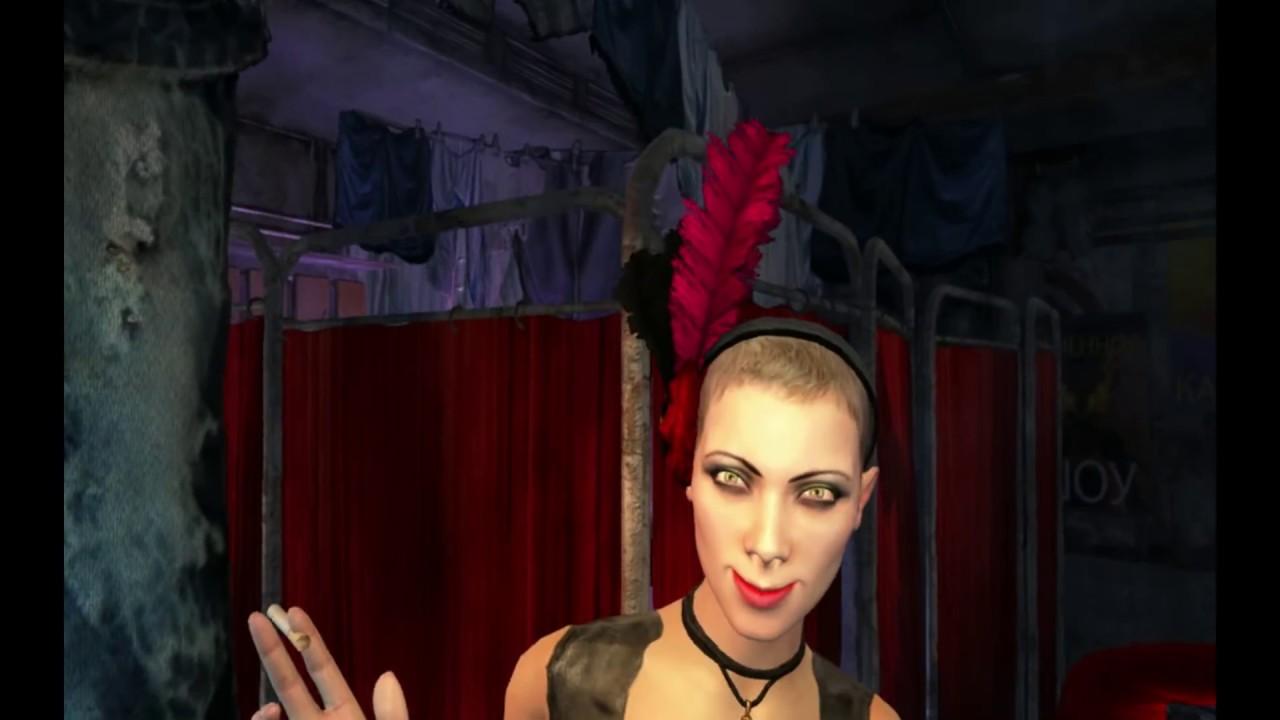 Голая девушка в игре метро