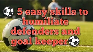 5 Easiest way to humiliate defenders and goal keepers || BY JAV Casting