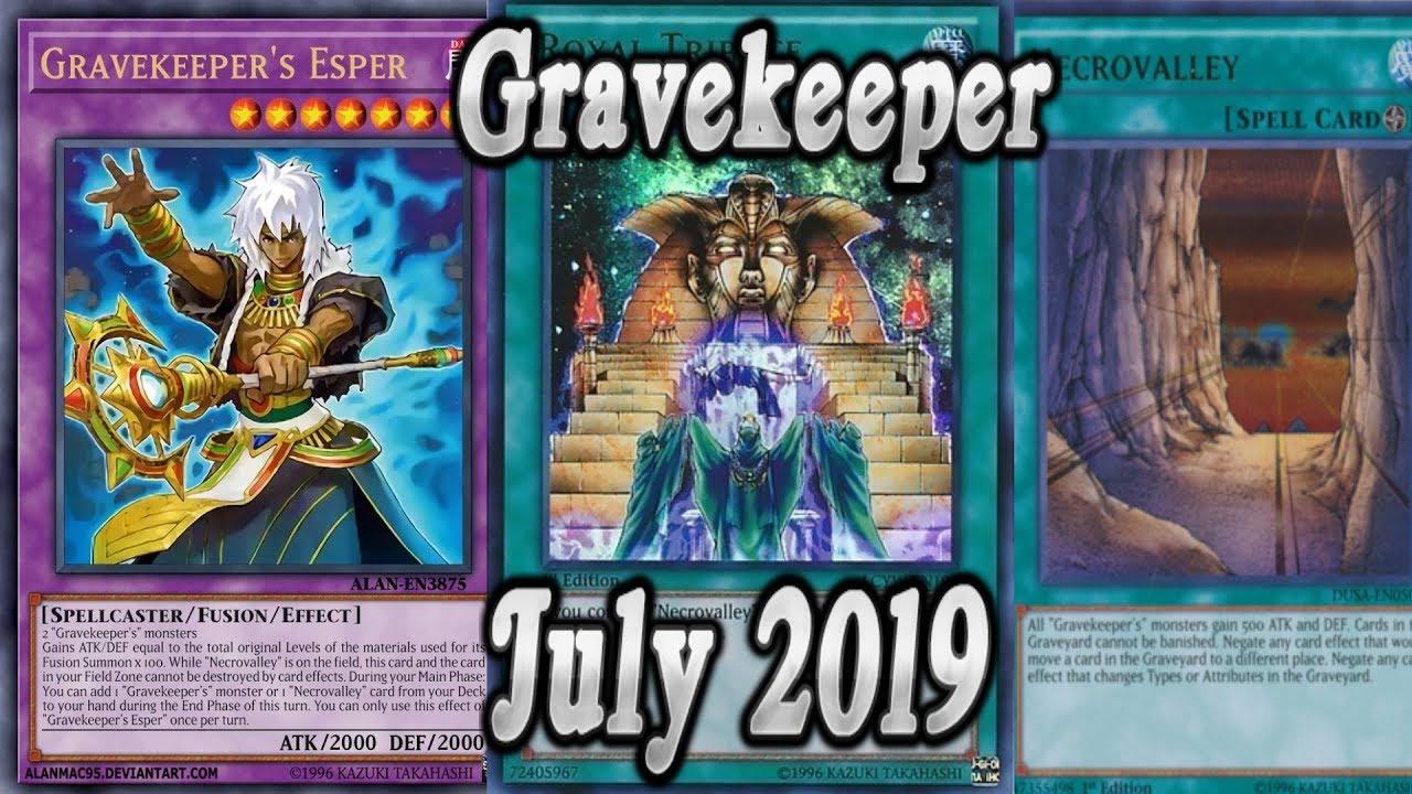 Yu-Gi-Oh! Gravekeeper Deck Profile / Duel Replays! July 2019