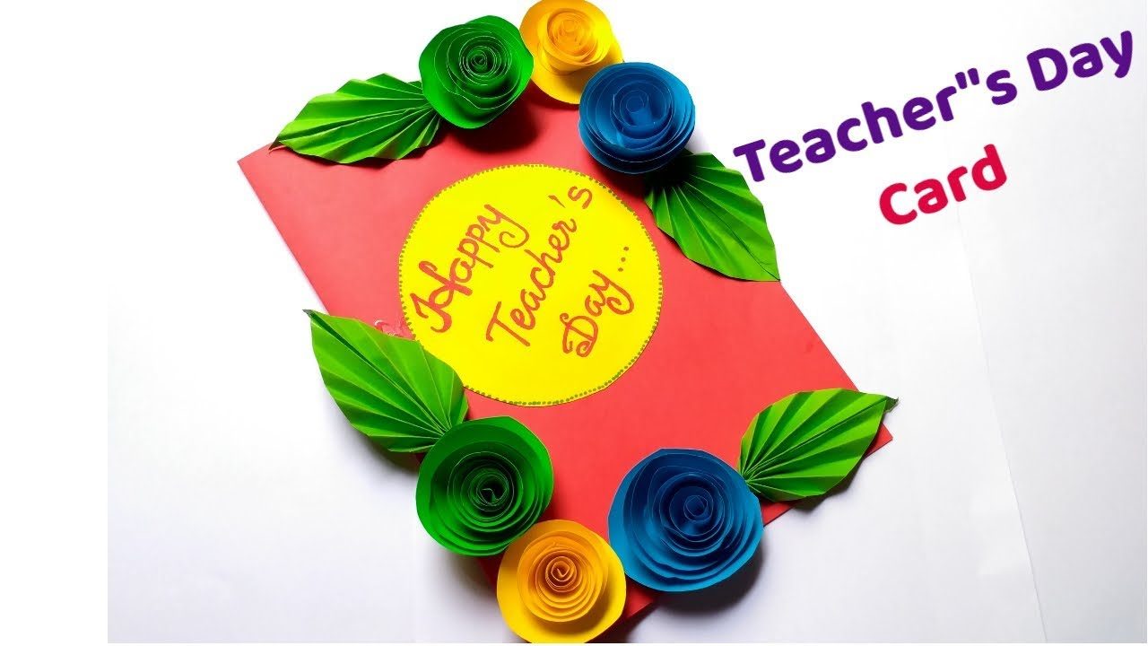 DIY Teachers Day Card Handmade Greeting