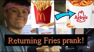 TRYING TO RETURN MCDONALDS FRIES TO ARBYS!