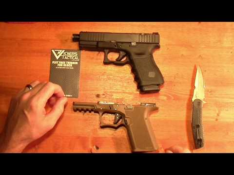 Vickers Tactical flat faced trigger range time - YouTube
