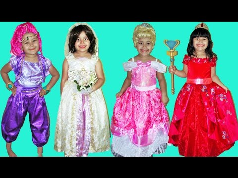 Thumbnail: 50 Halloween Costumes Disney Princess Kids Costume Runway Show Anna Queen Elsa