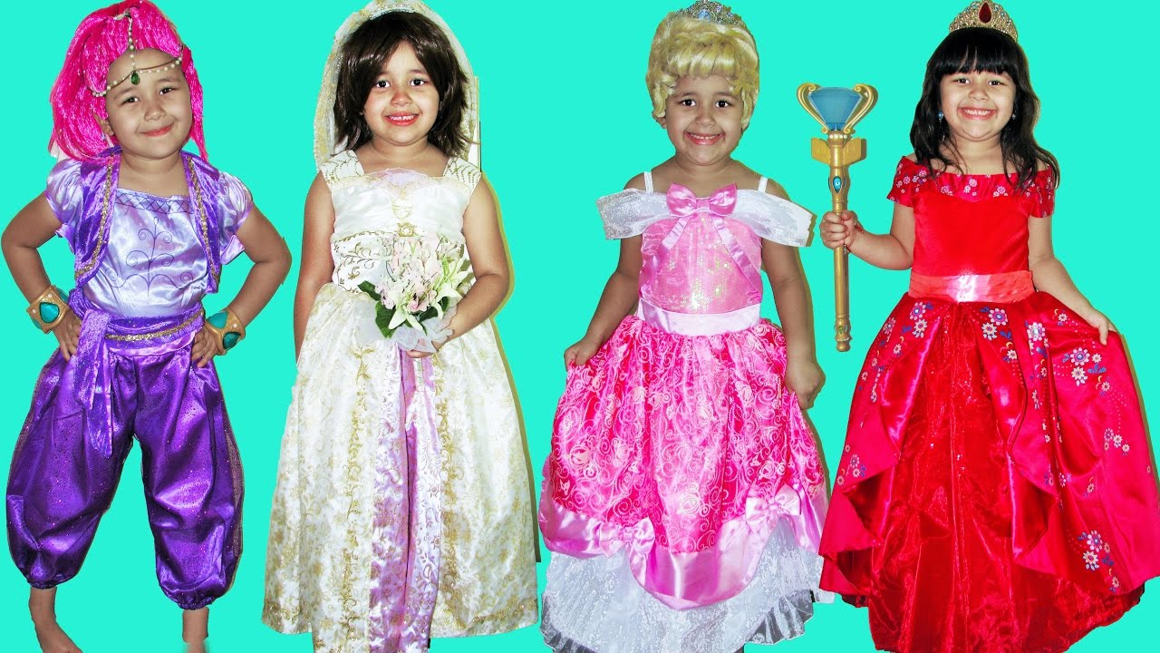 50 Halloween Costumes Disney Princess Kids Costume Runway Show Anna Queen Elsa  sc 1 st  YouTube & 50 Halloween Costumes Disney Princess Kids Costume Runway Show Anna ...